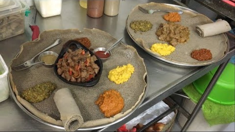 The Ultimate ETHIOPIAN FOOD TOUR In Tel Aviv  -  AFRICAN FOOD From Ethiopia In Israel
