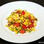 Roasted Corn Salad Plated