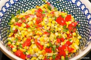 Roasted Corn Salad Dressed