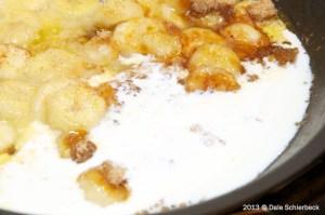 caramelize bananas with cream