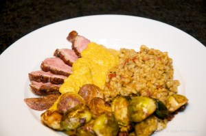 Pearl Barley Risotto with Duck