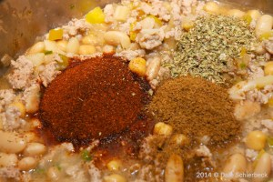 White Chili add spices