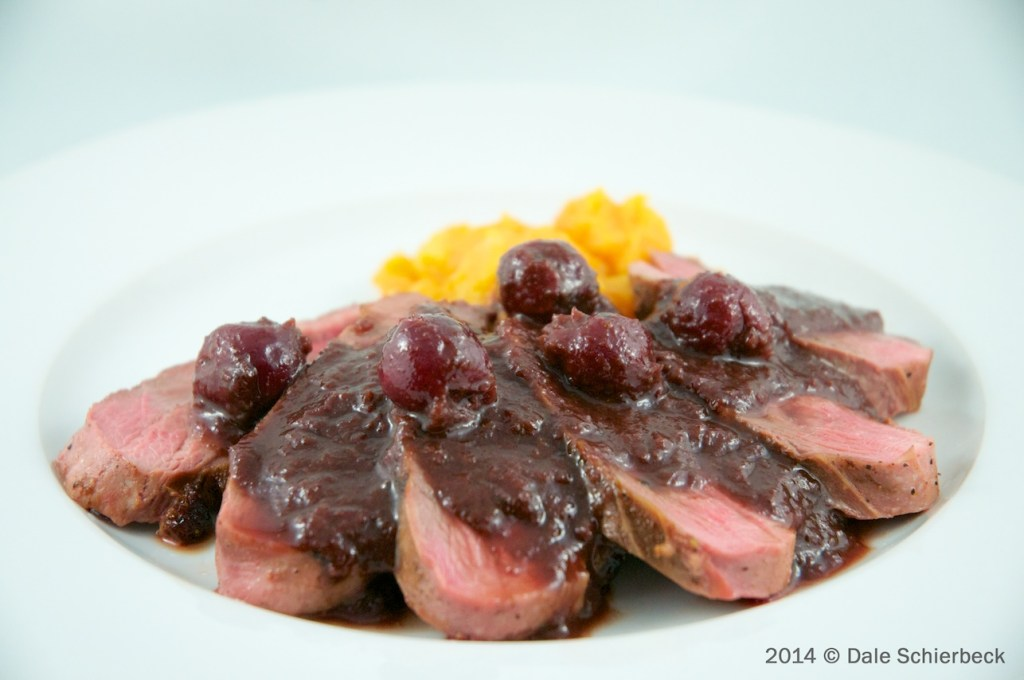 Duck Magret with Sour-Cherry and Port Sauce …