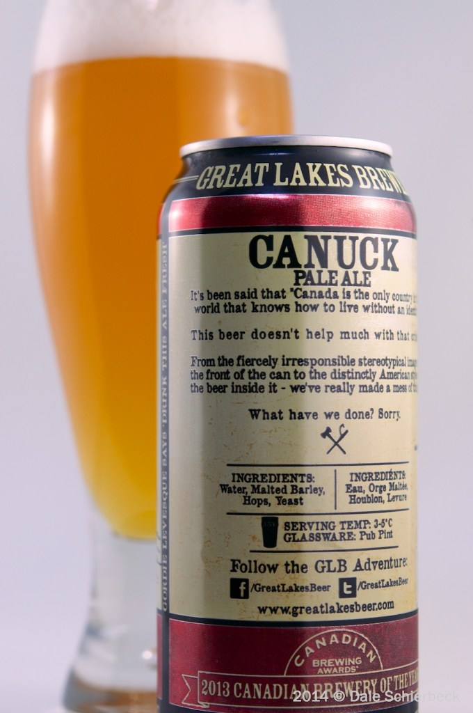 Canuck Pale Ale (back)