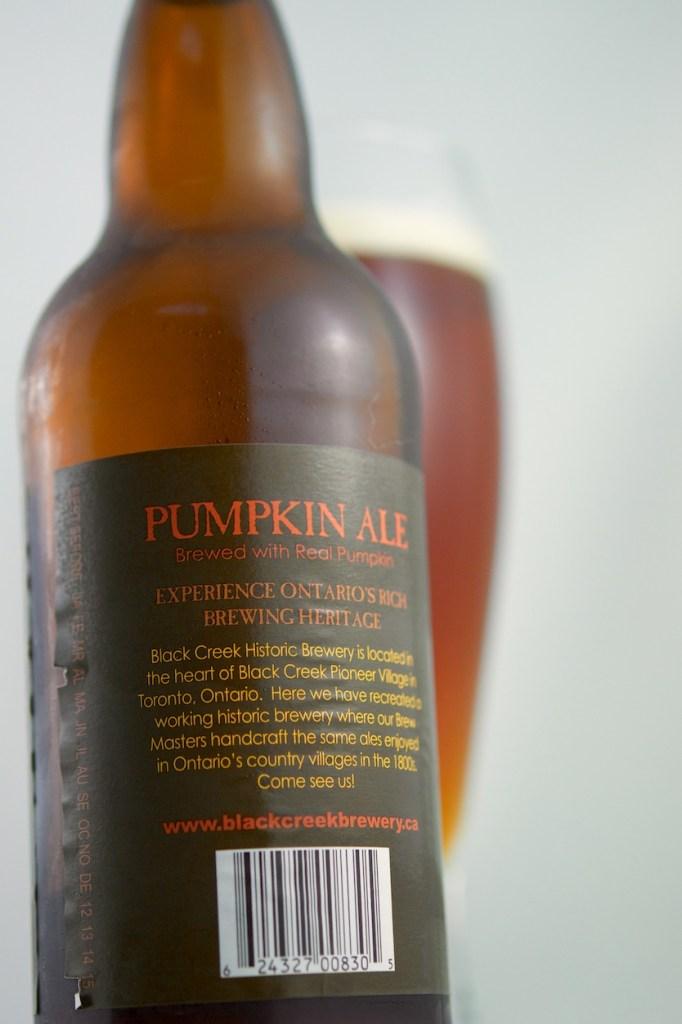 """Pumpkin Ale"" (Spiced Beer) Black Creek Historic Brewing"
