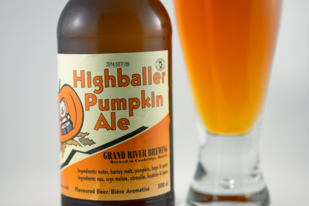 """Pumpkin Ale"" (Flavoured Beer) Grand River Brewing"
