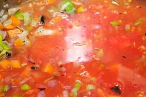 Deglaze soup