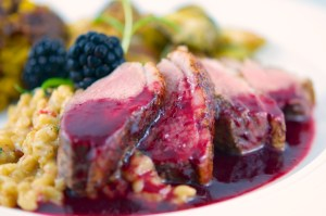 Duck with Blackberry-Chambord Sauce (plated)