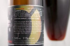 Sunturnbrew Barley Wine (back)