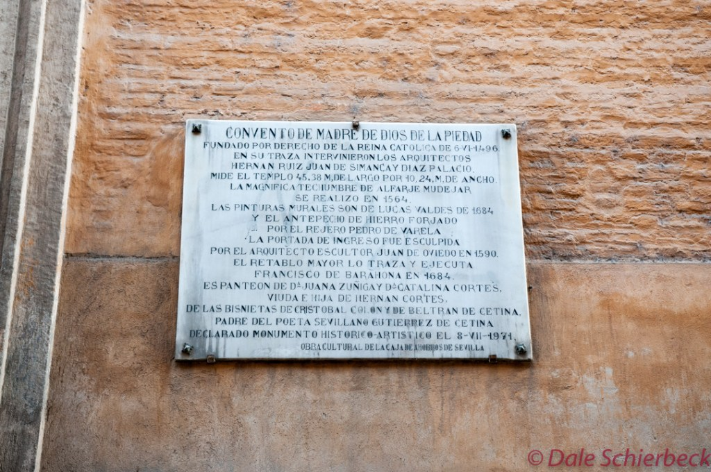 Plaque for Convent of Mother of God (Seville, Spain)