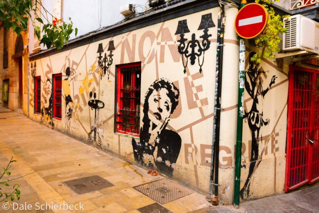 graffiti on a corner