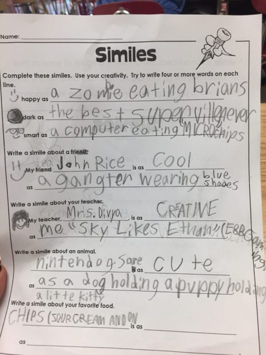 Kids Write The Darndest Things