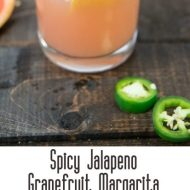 Spicy Grapefruit Jalapeno Margaritas