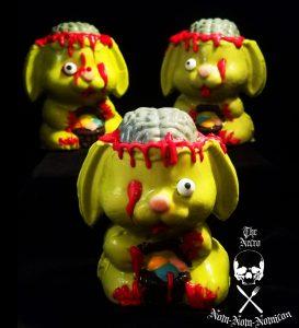 three dark bunnies