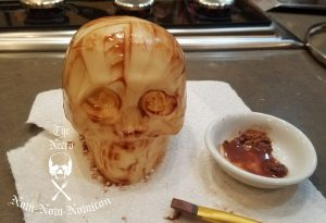 adding some ageing to the skull