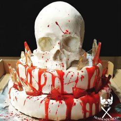 Halloween Recipe: Glass Shard and Skull Cake