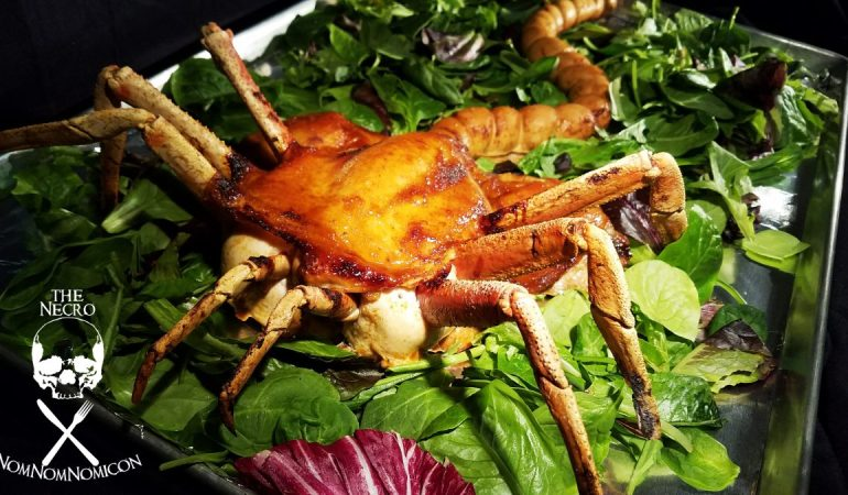 halloween recipe the facehugger feast roasted chicken