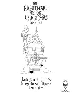 Nightmare Before Christmas Gingerbread House Jack Skellington blueprint cover
