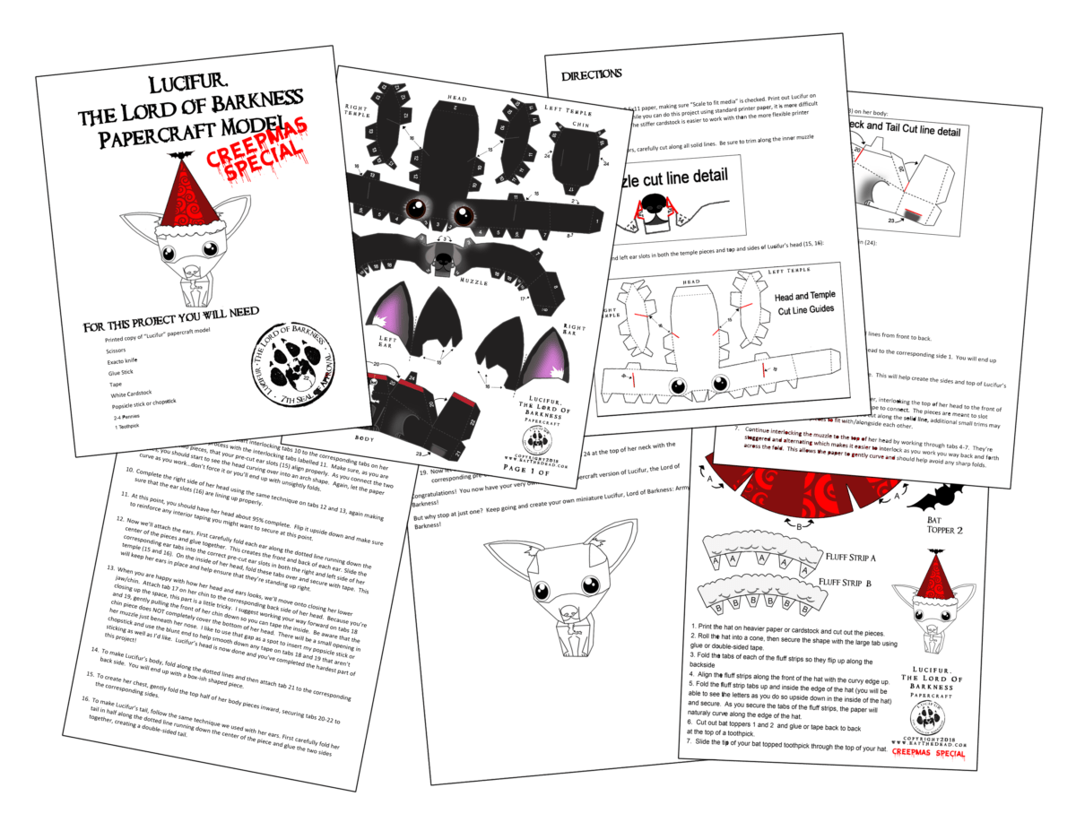 Merry Creepmas Have A Lucifur Holiday Papercraft Welcome To The Necro Nomnomnomicon