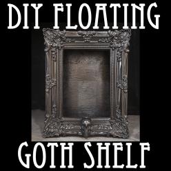 easy goth floating shelf diy hero image