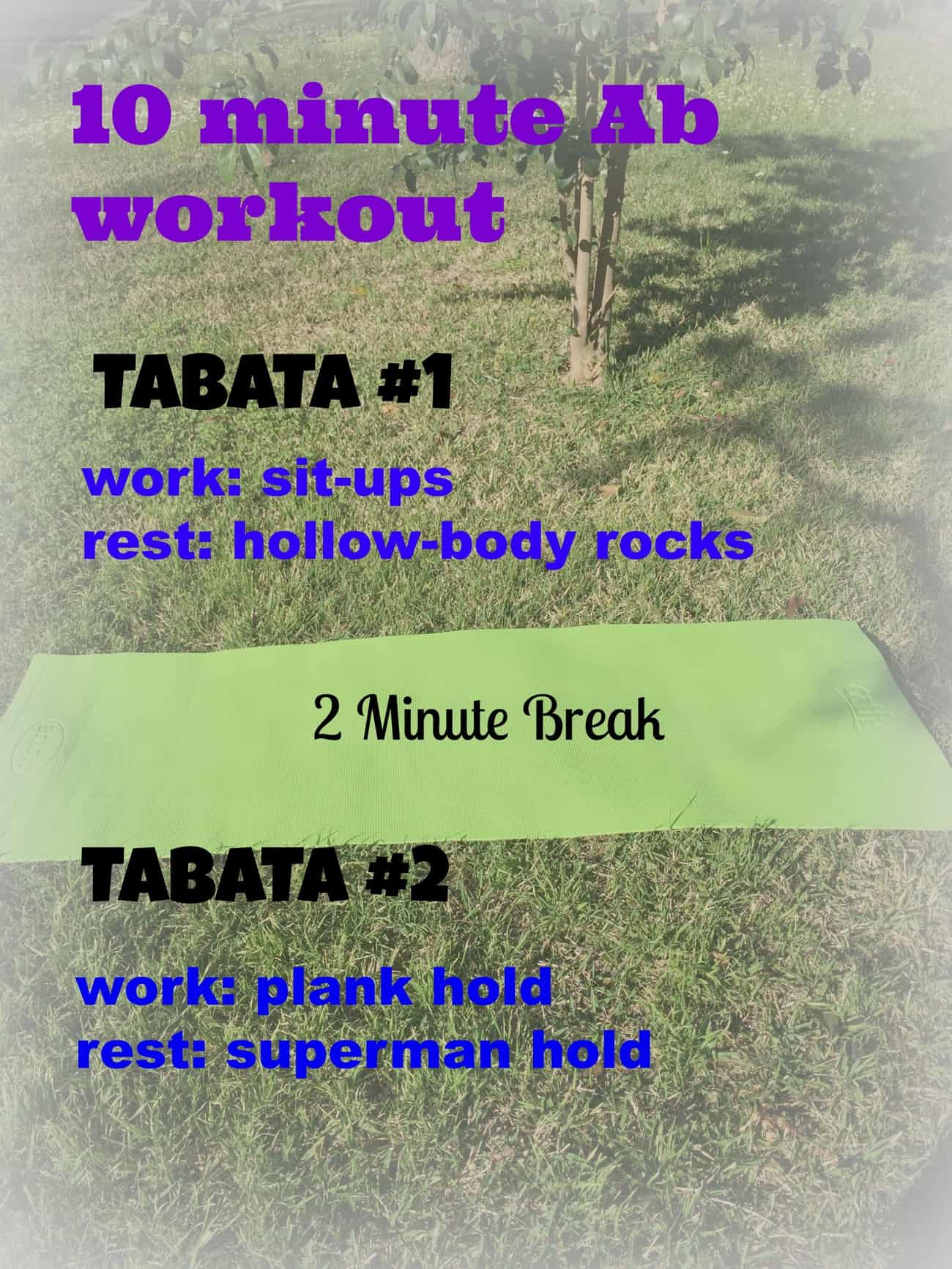 10 min ab workout text