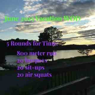 June 2015 Vacation WOD