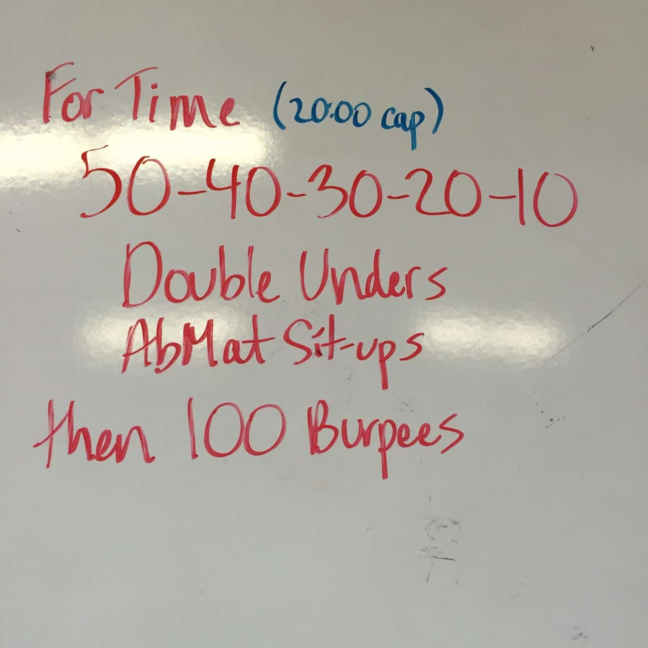 Annie plus 100 Burpees