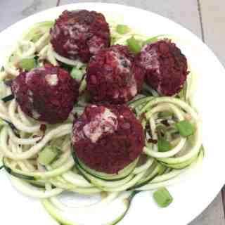 Beet, Lentil, & Ginger Meatballs {Vegan}