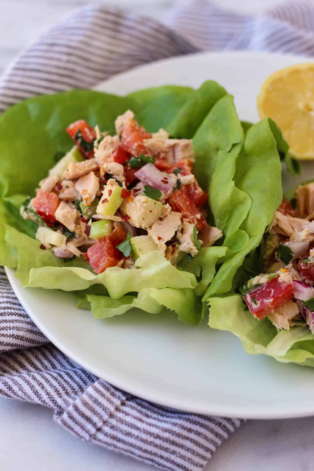 Tuna Tahini Apple Salad - Eat the Gains - photo#39