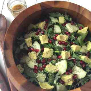 Easy Vegan Holiday Salad with Lemon Mustard Vinaigrette
