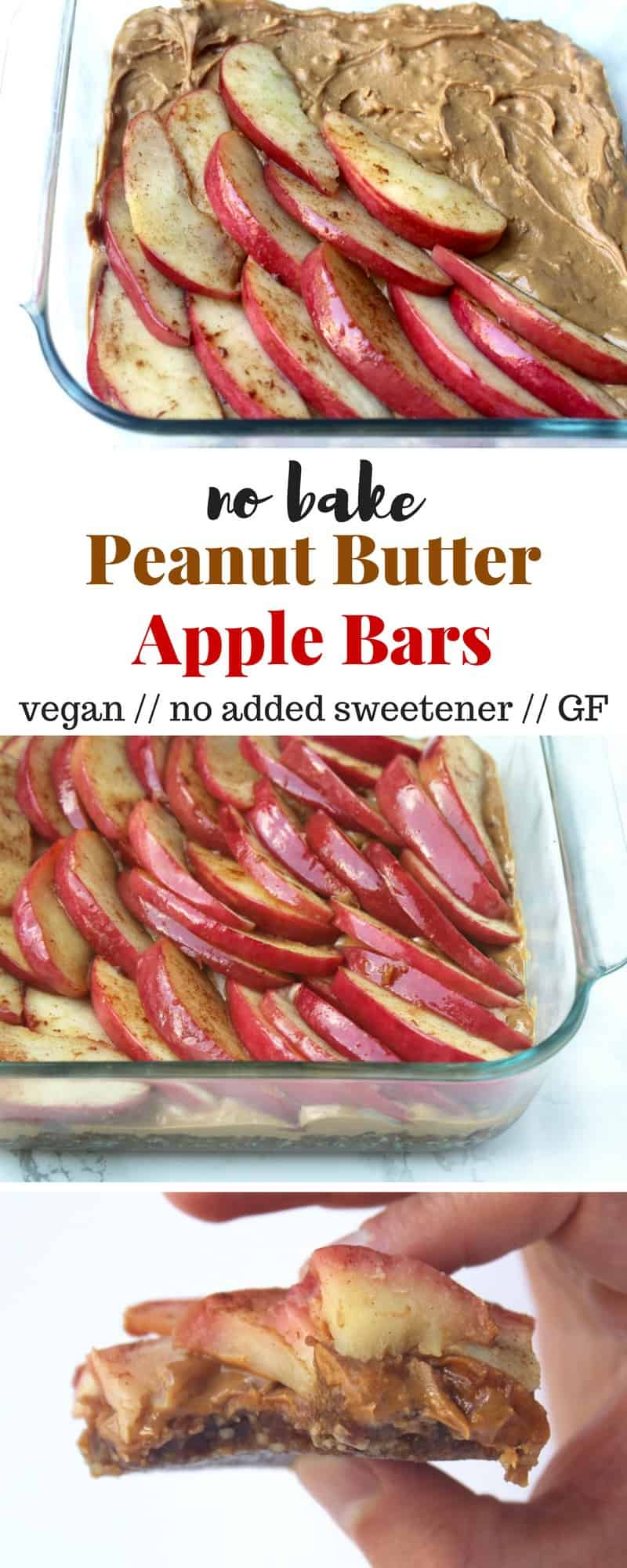 No Bake Peanut Butter Apple Bars