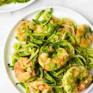 Spicy Chimichurri Shrimp Zucchini Noodles