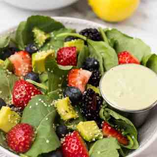 Berry Avocado Salad with Creamy Matcha Dressing