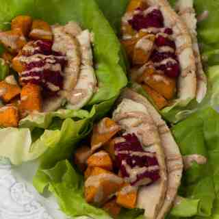 Turkey Cranberry Lettuce Wraps
