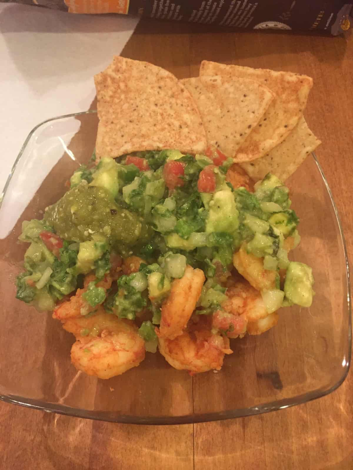 Homemade shrimp ceviche