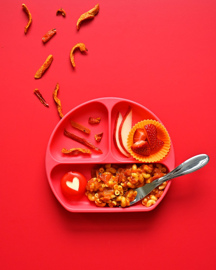 RED lunch plate
