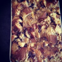 Nutella Banana Brioche Bread Pudding