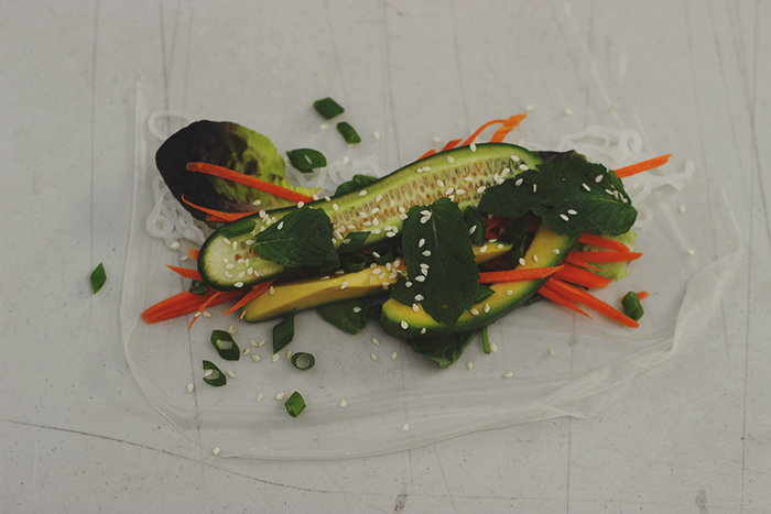 rice paper rolls salad