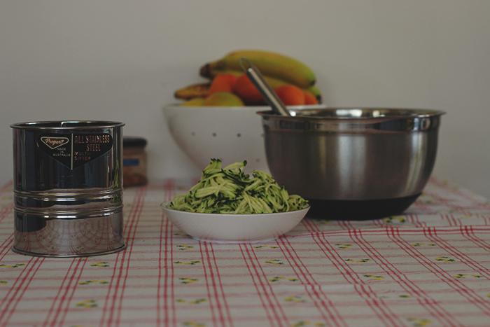 zucchini cake prep