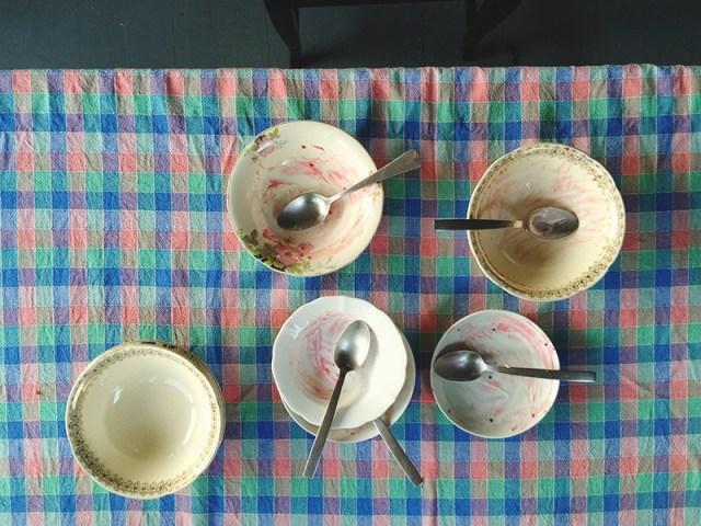 raspberry meringue roulade dishes