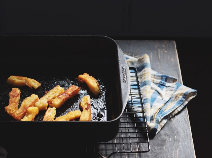 grilled polenta chips