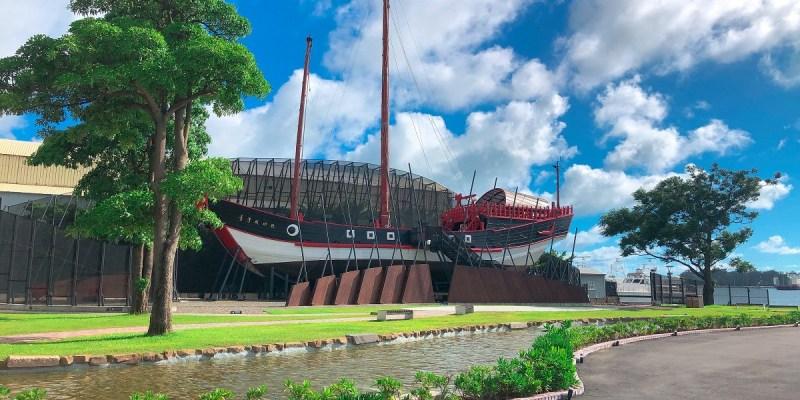 臺灣船園區 站在「台灣成功號」上可以遠眺前方的安平港及林默娘公園裡的林默娘塑像之外,附近還有其他景點如港濱歷史公園、林默娘公園、德陽艦園區、億載金城等景點可供前來旅遊的觀光客進行一場知性的歷史之旅。