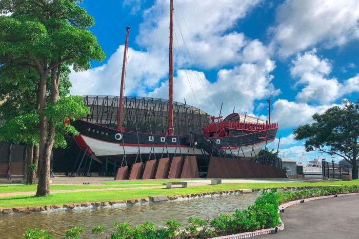 臺灣船園區|站在「台灣成功號」上可以遠眺前方的安平港及林默娘公園裡的林默娘塑像之外,附近還有其他景點如港濱歷史公園、林默娘公園、德陽艦園區、億載金城等景點可供前來旅遊的觀光客進行一場知性的歷史之旅。