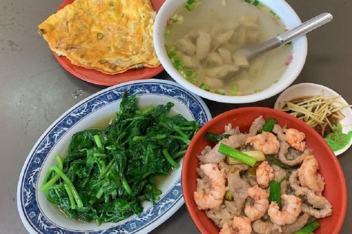 目鏡火燒蝦仁飯|米飯不但有拌炒的鹹香味,蝦汁的鮮甜,也能吃到爽口的新鮮蔥段及火燒蝦Q彈香甜。