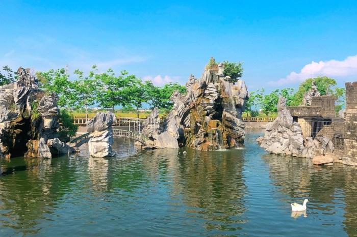 佳福寺 在鄉下田間的寧靜寺廟,有造景池/小型運動公園/烤肉區/小朋友的遊憩區,也是闔家休閒的好去處!