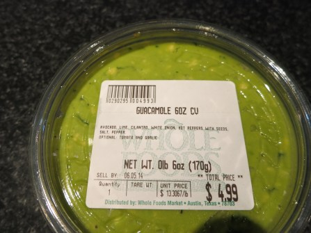 Whole Foods Guacamole