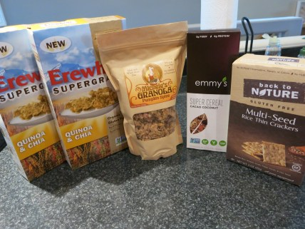 Whole Foods cereals and crackers (GF vegan)