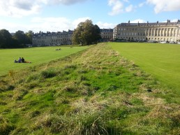 Field segregation: Right is only for Royal Crescent residents; left is open to public