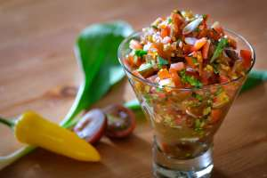 Tomato, Chili, Ramp Salsa