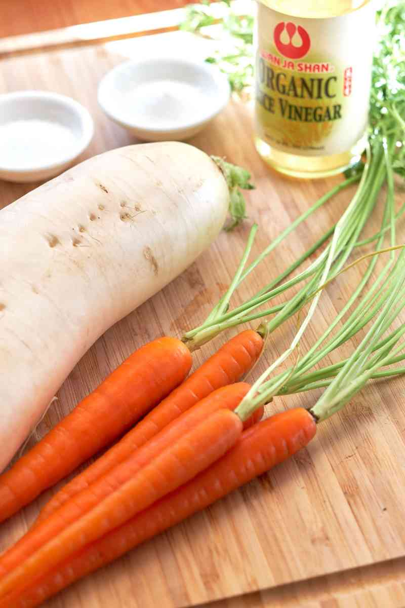 Pickled Carrots and Daikon